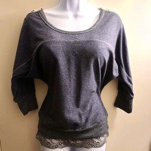🌊Full Tilt crochet back sweater